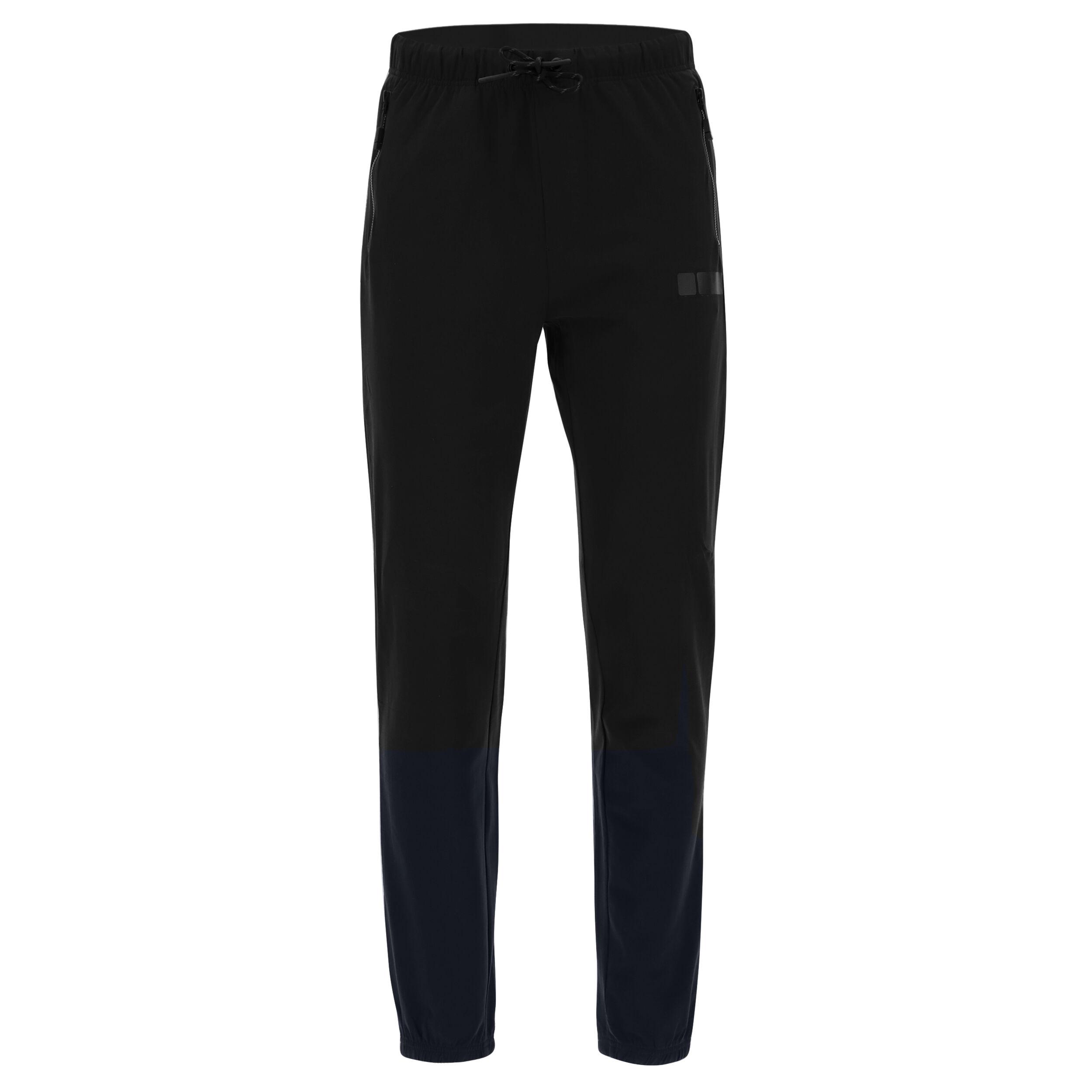 freddy pantaloni sportivi con stampa  sport box a fondo gamba nero