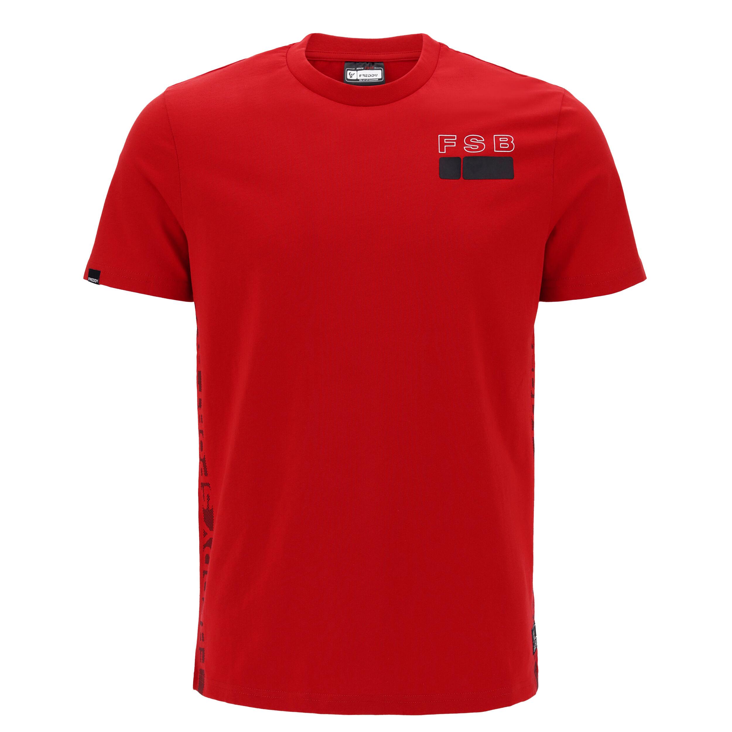 freddy t-shirt con stampa  sport box sui fianchi rosso