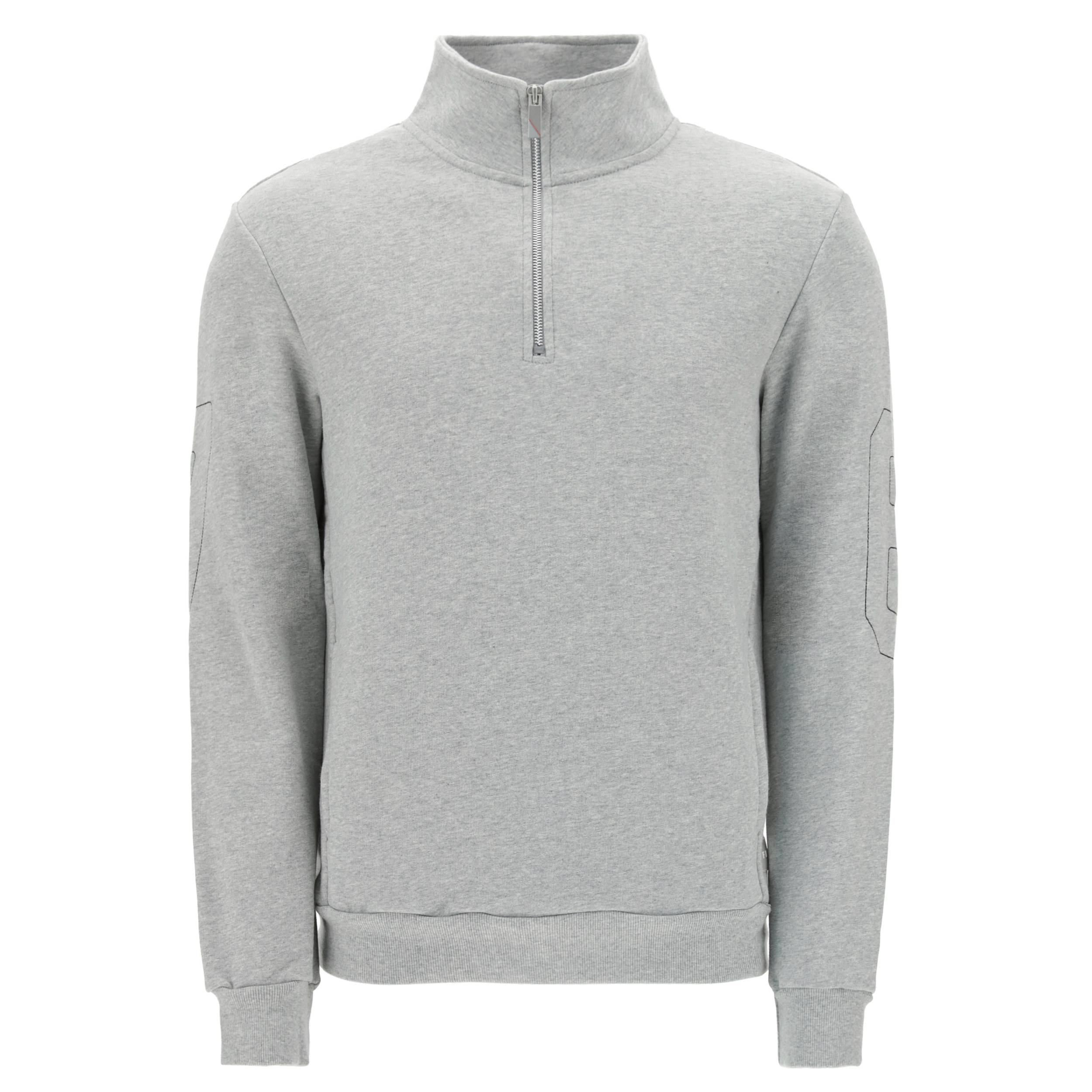 freddy felpa 1/2 zip melange gray