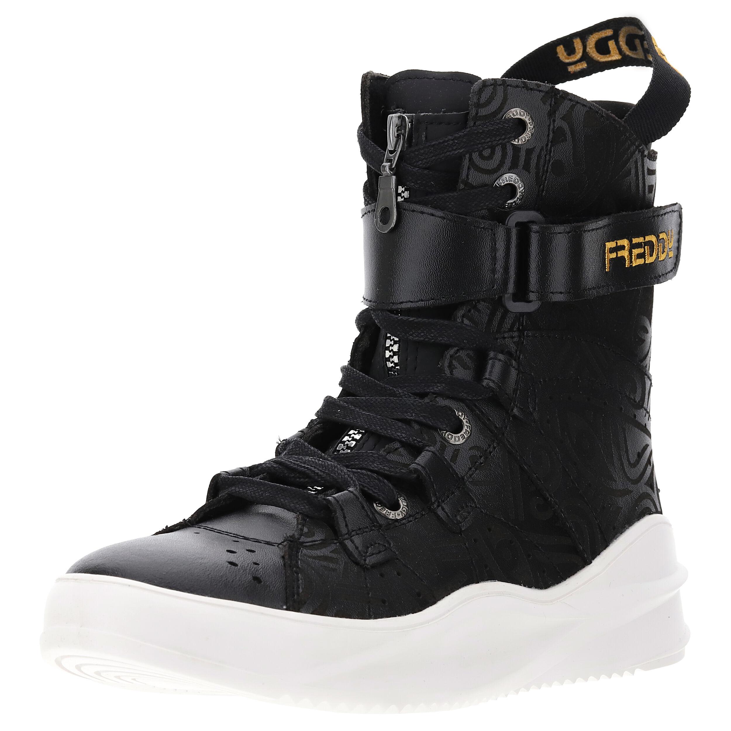 Freddy Mid Cut Boot 589 Laolu in vera pelle Black
