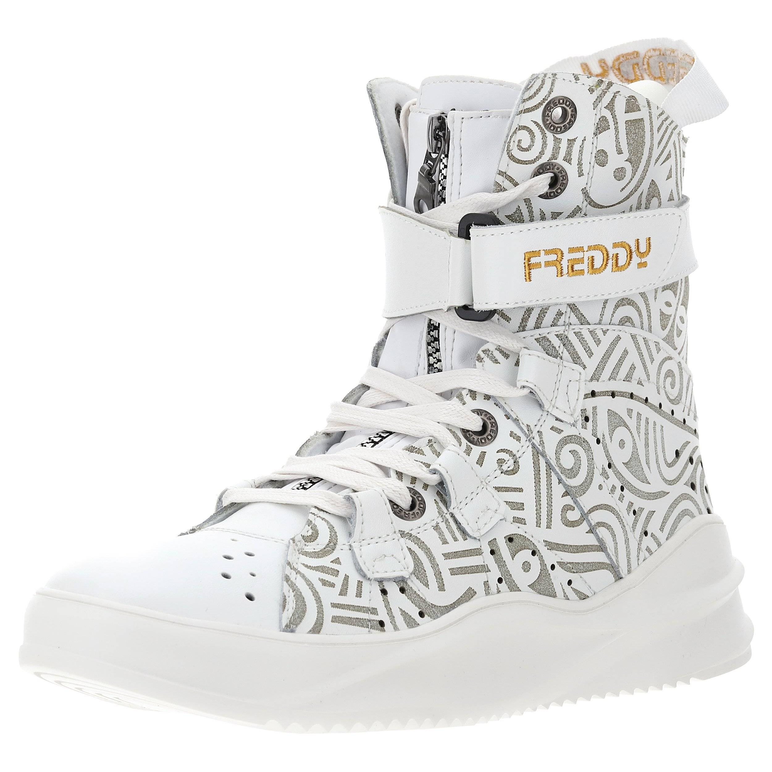 Freddy Mid Cut Boot 589 Laolu in vera pelle White