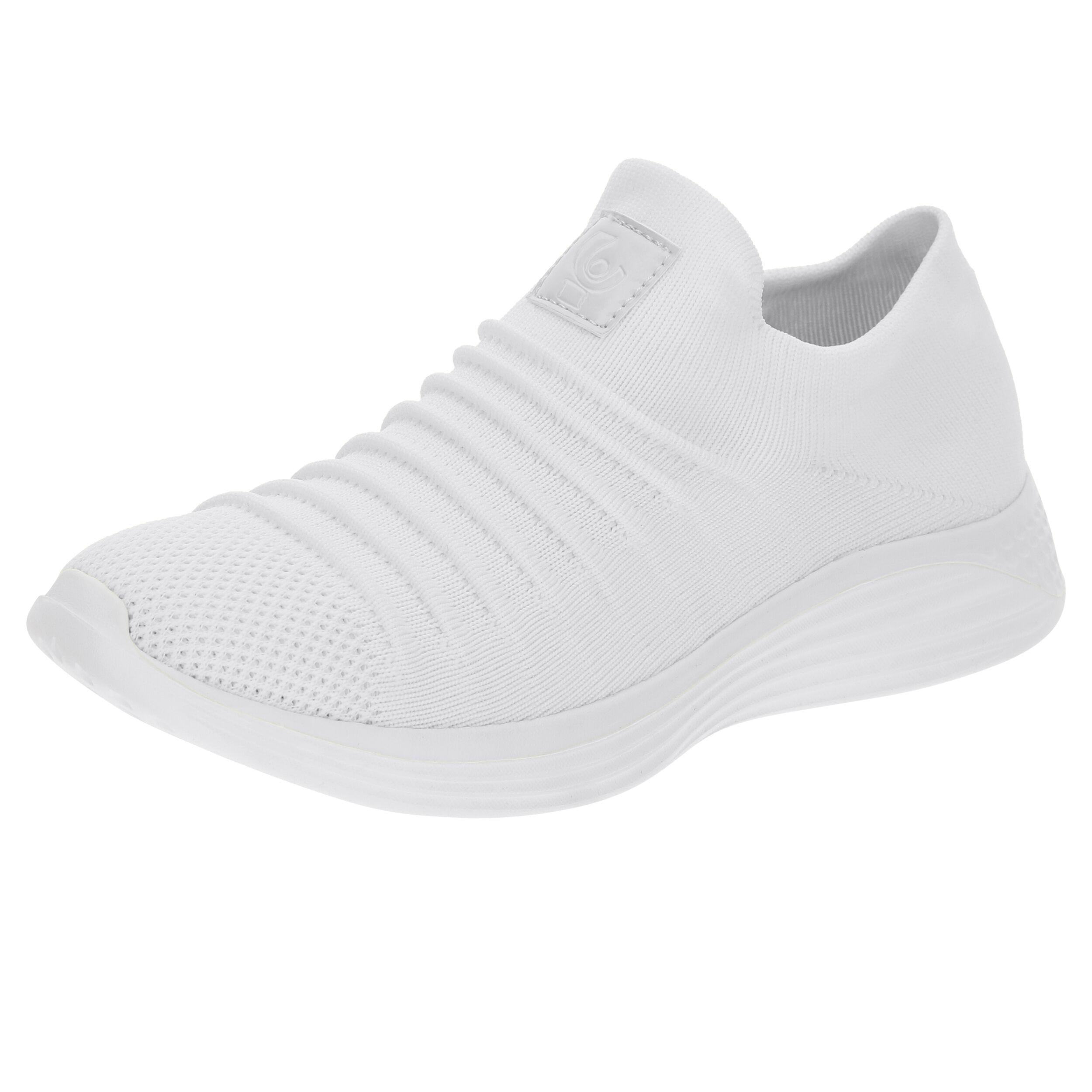 Freddy Sneakers slip-on con tomaia seamless e suola EVA Bianco