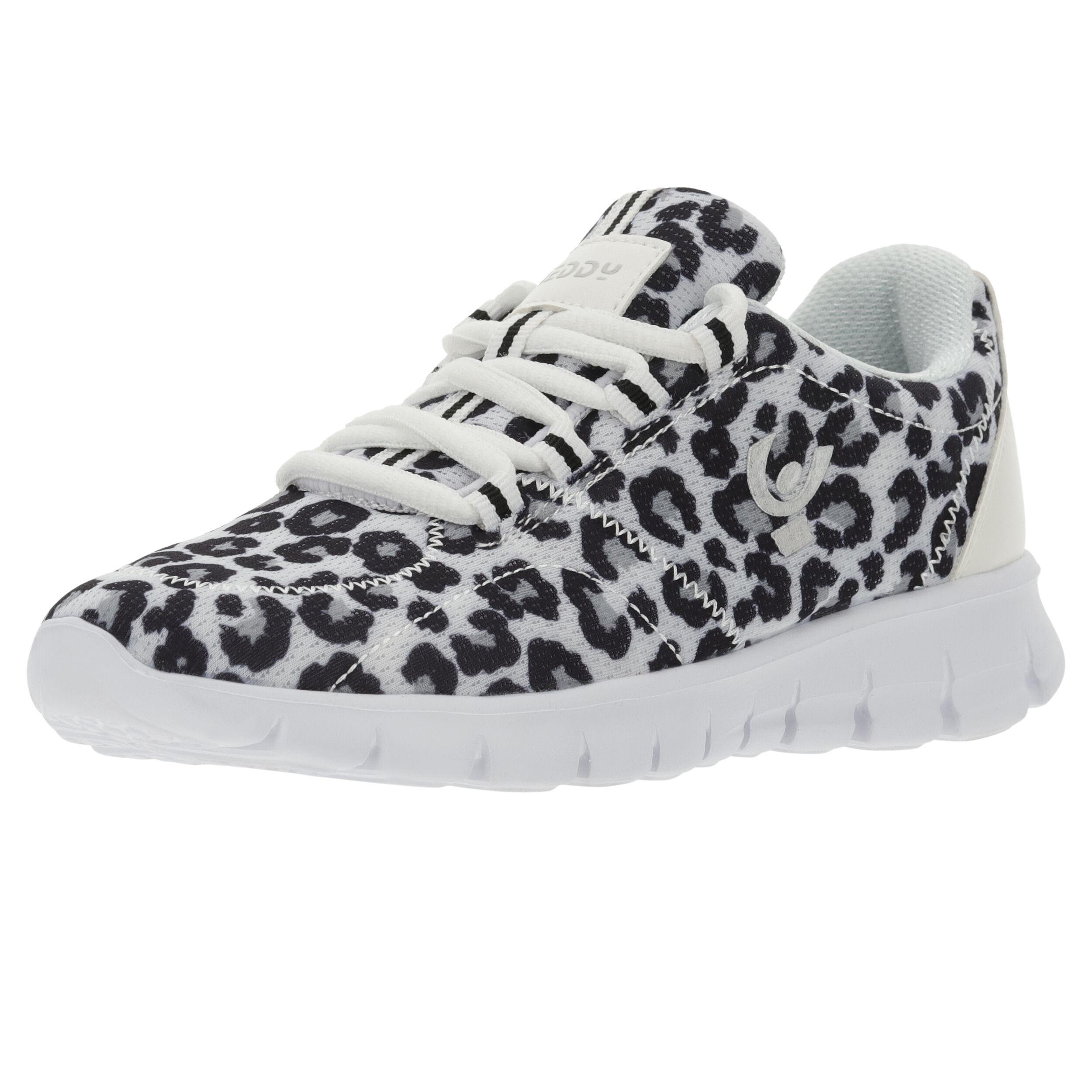 Freddy Sneakers ultraleggere mesh traspirante leopardato Leopard Animalier White