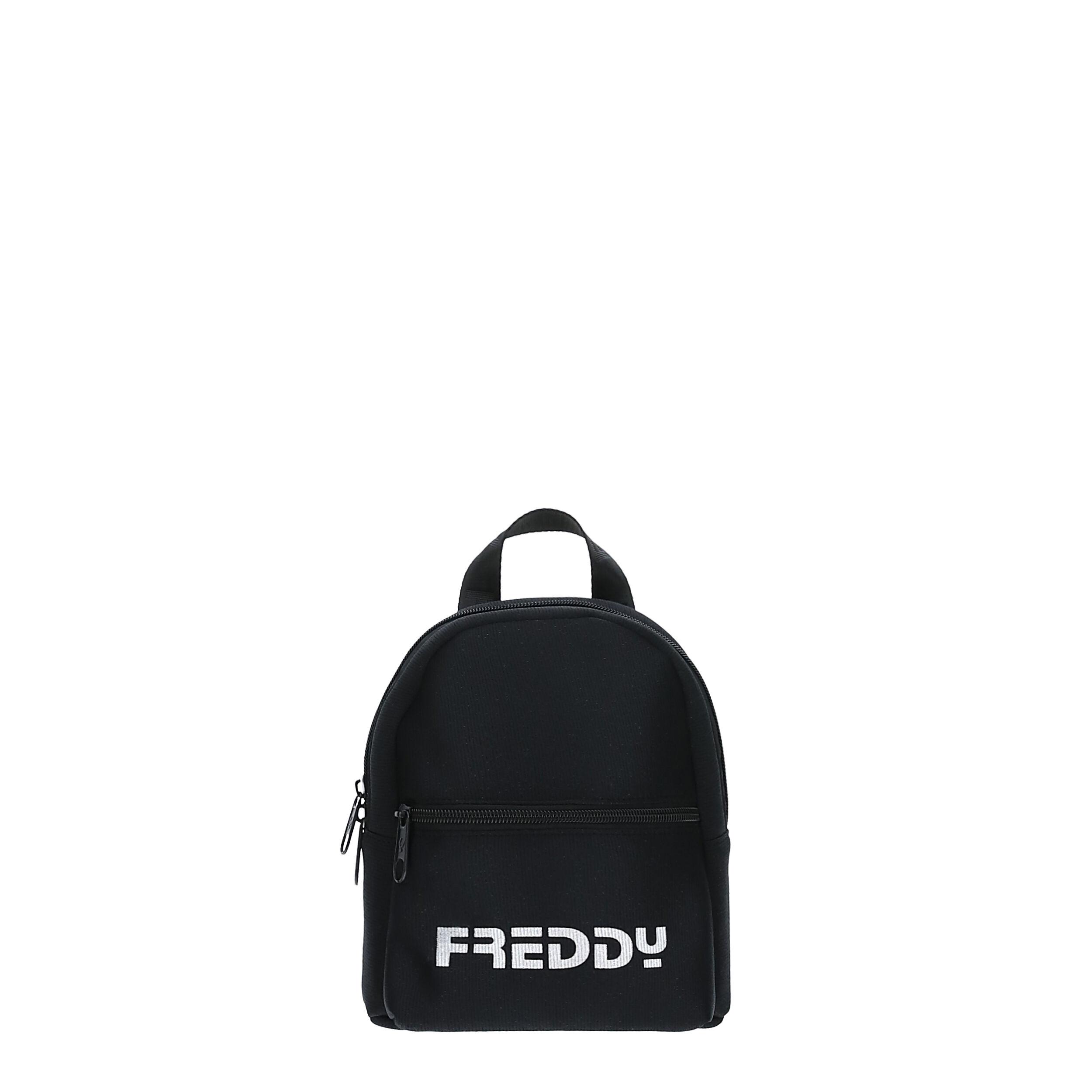 Freddy Mini zaino in glitter nero con stampa a contrasto Nero