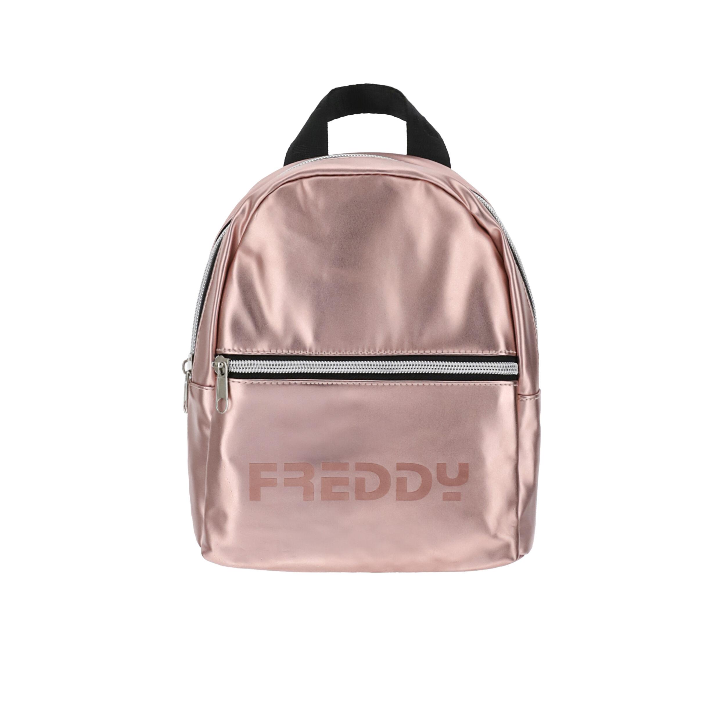 Freddy Mini zaino in nylon metallizzato Pink