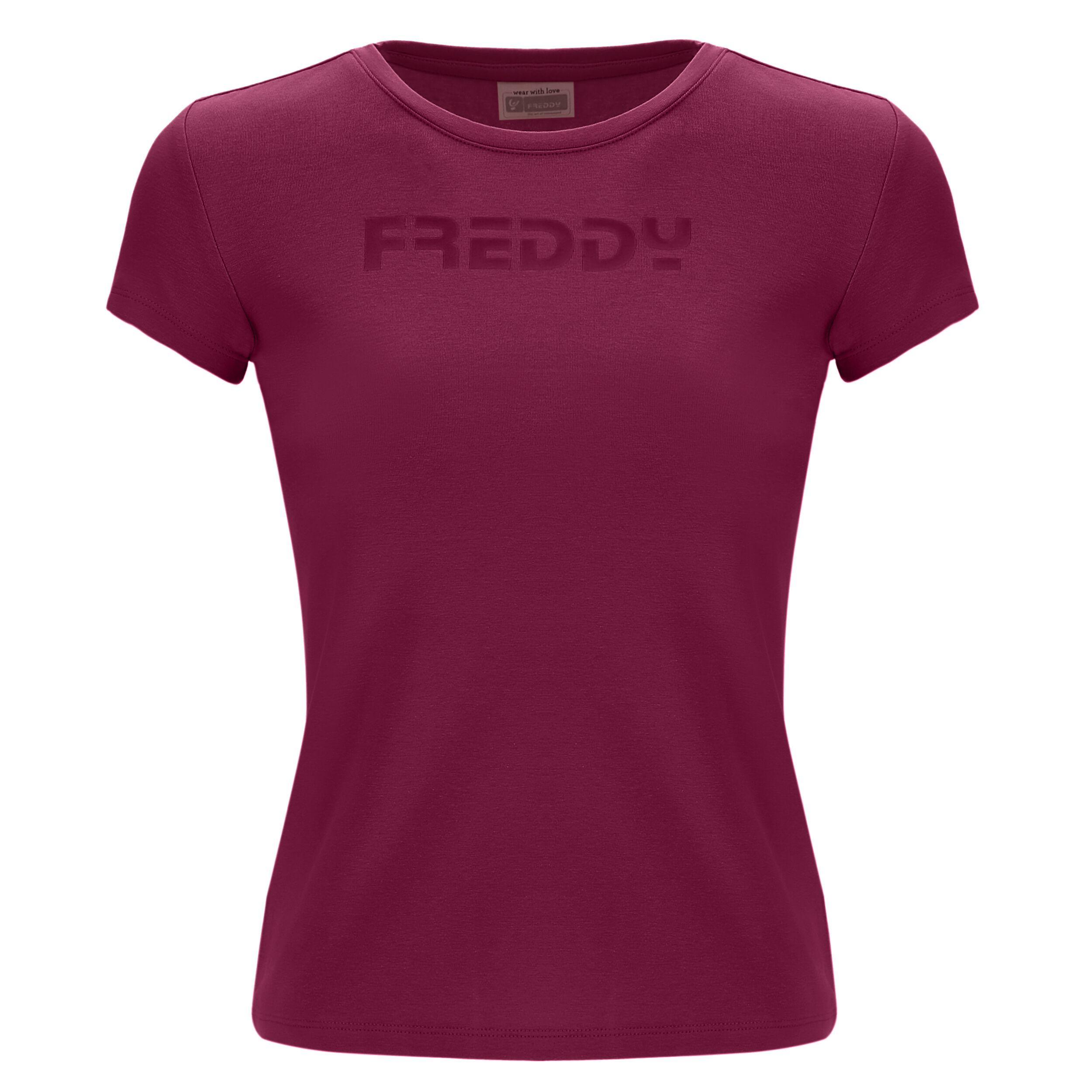 Freddy T-shirt bambina con logo  in tono colore Purple Potion