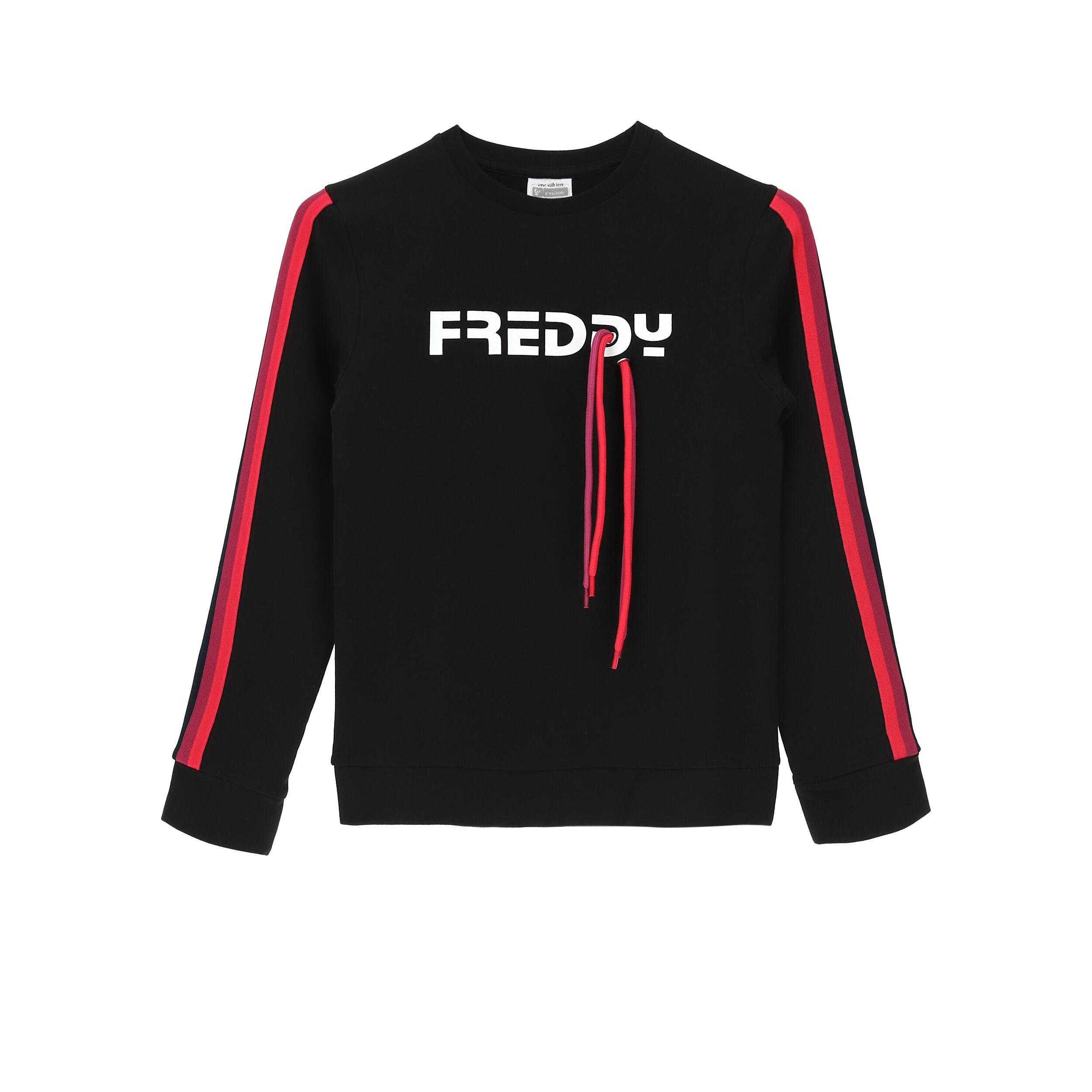 Freddy Maglia con applicazione e bande colorate – Bambina 6-8 anni Black