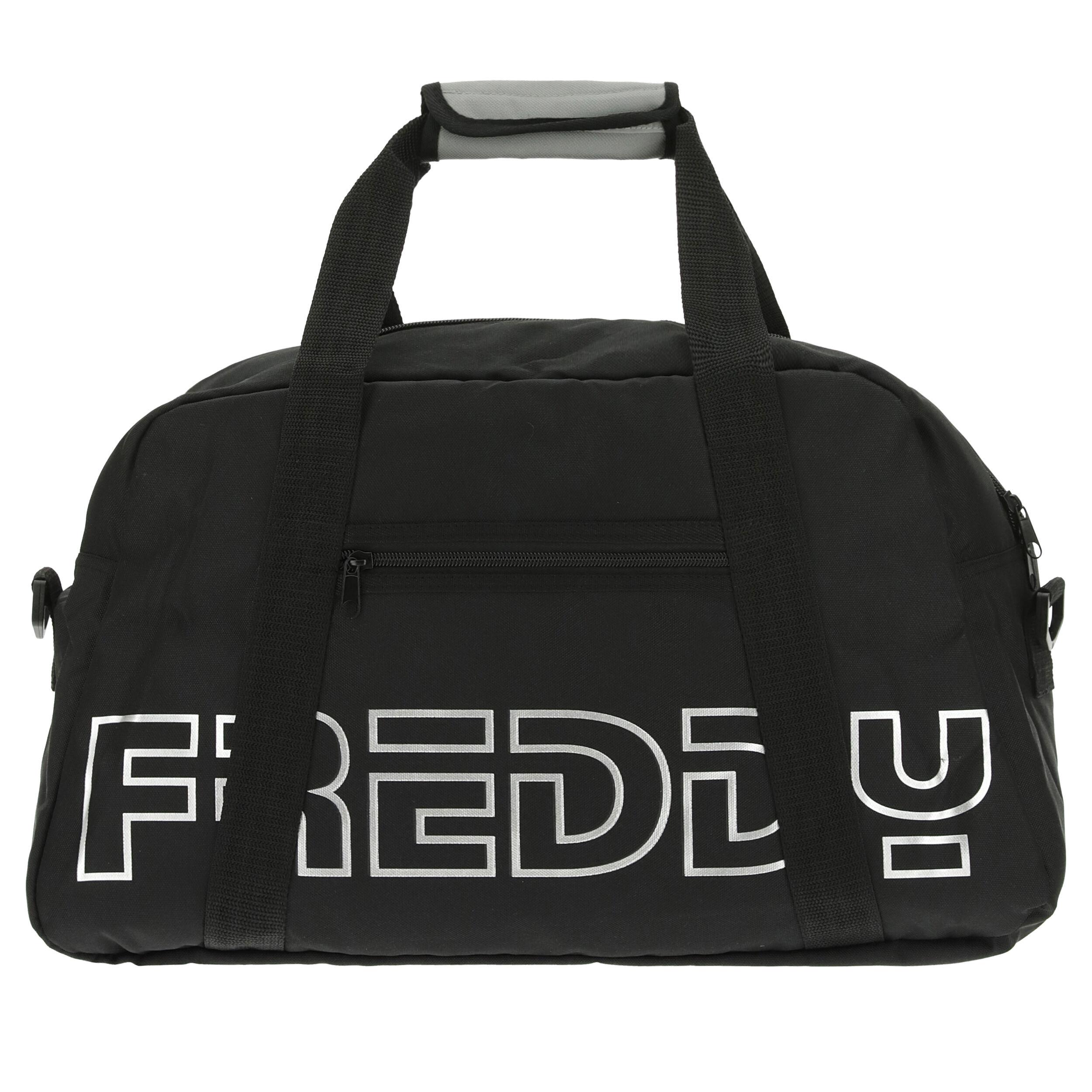 Freddy Borsa da palestra in nylon con stampa  reflex Nero-Silver