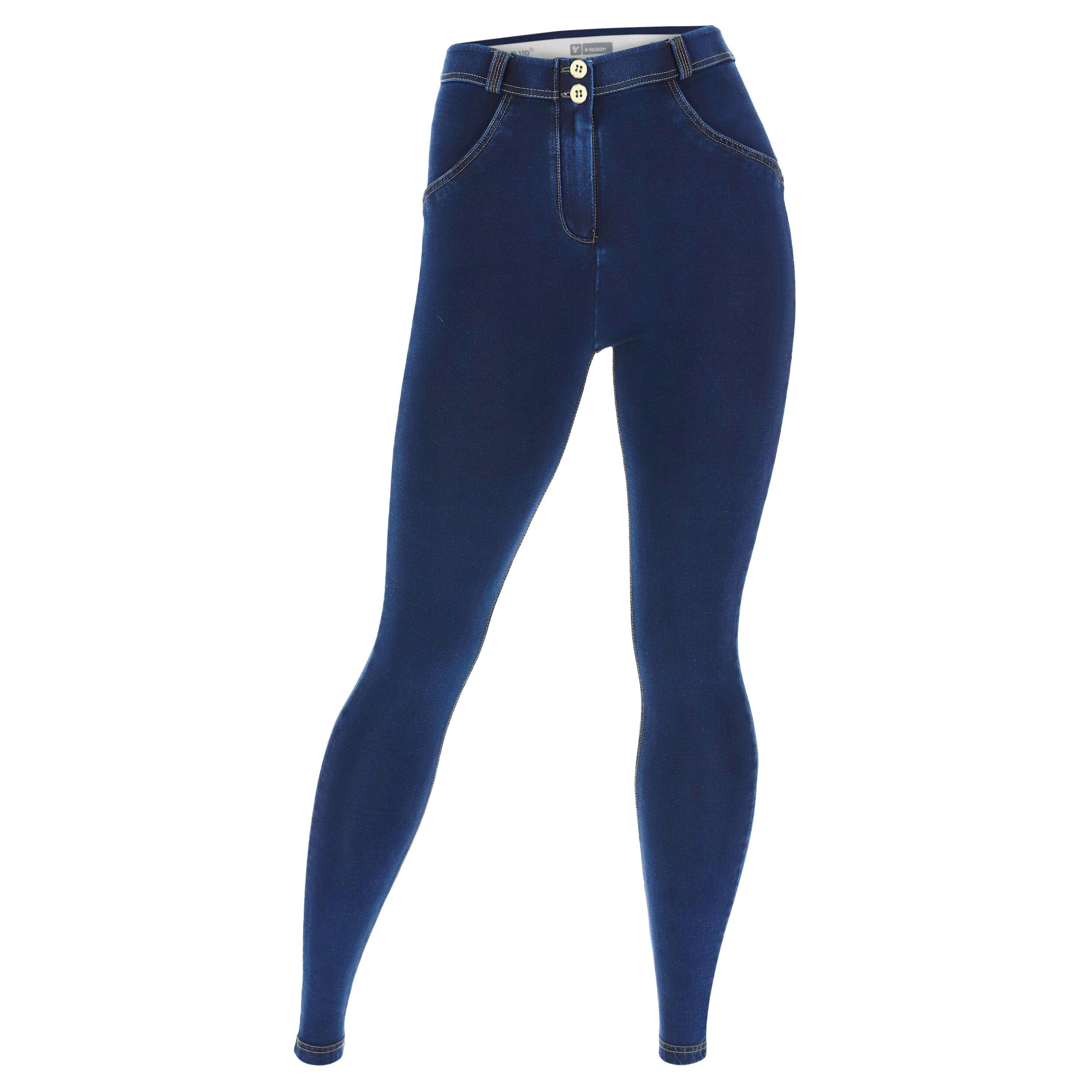 Freddy Jeggins push up WR.UP® vestibilità curvy denim scuro Jeans Scuro-Cuciture In Tono