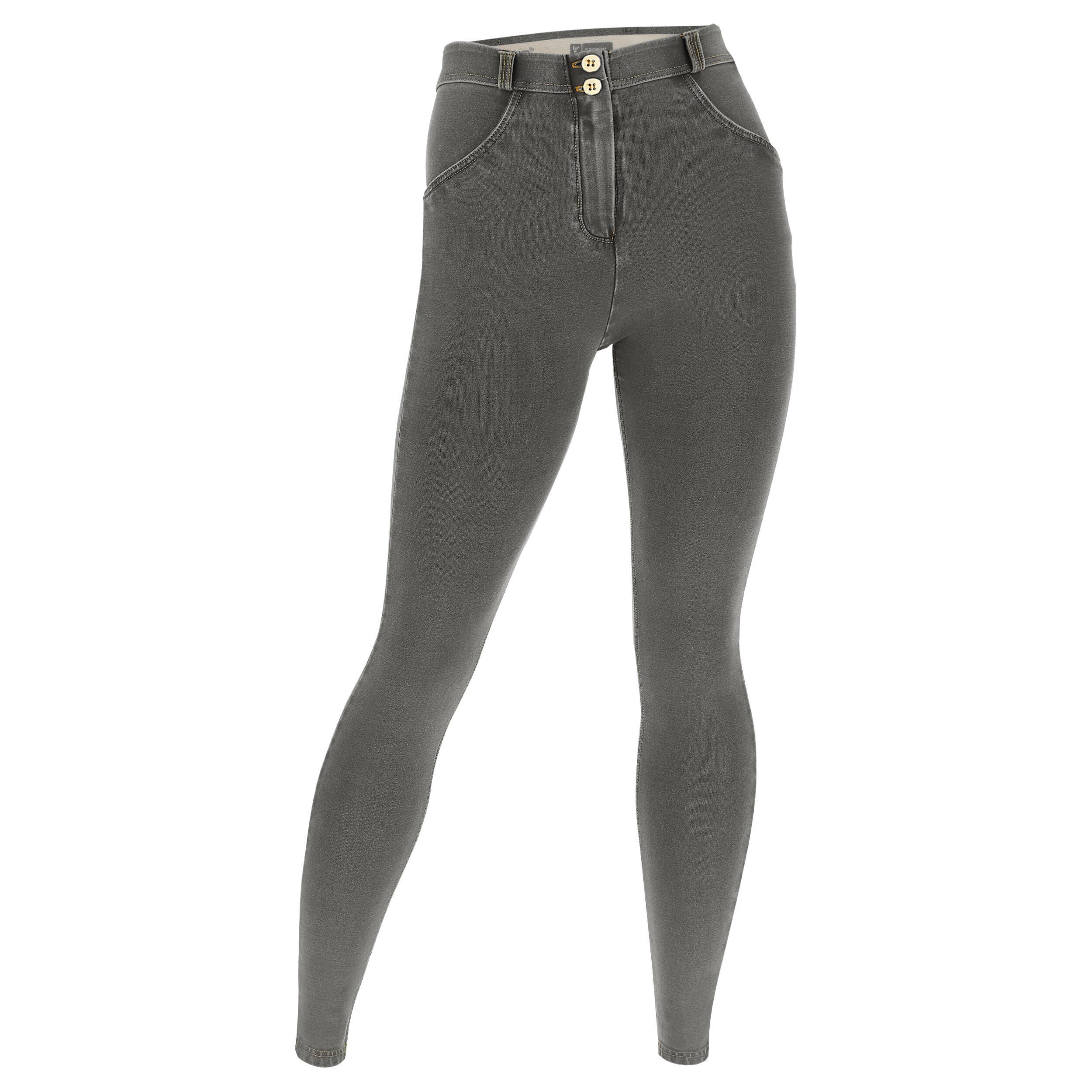 Freddy Jeggins push up WR.UP® vestibilità curvy denim chiaro Jeans Grigio-Cuciture Gialle