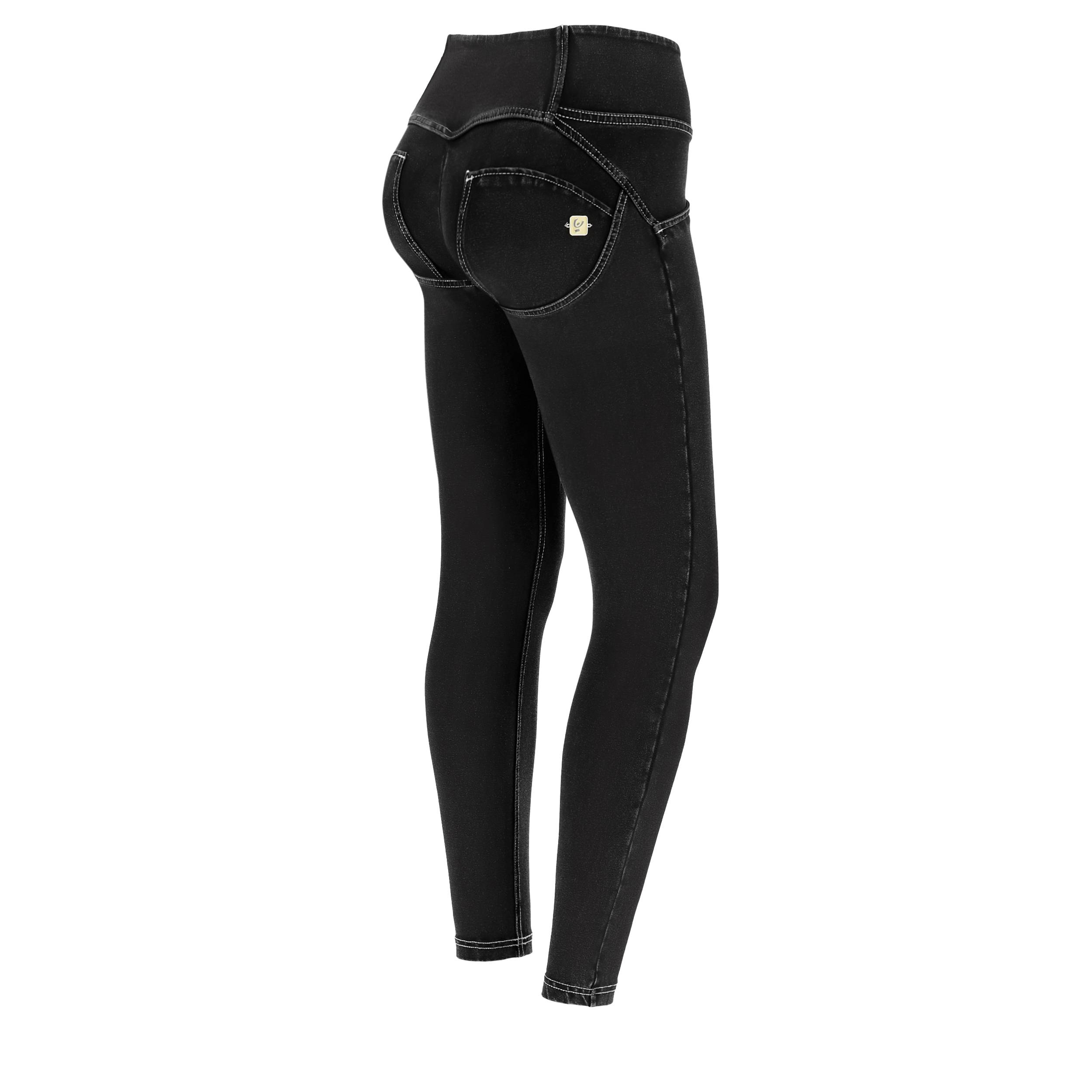 Freddy Jeggings push up WR.UP® 7/8 superskinny vita media Jeans Nero-Cuciture Grigie