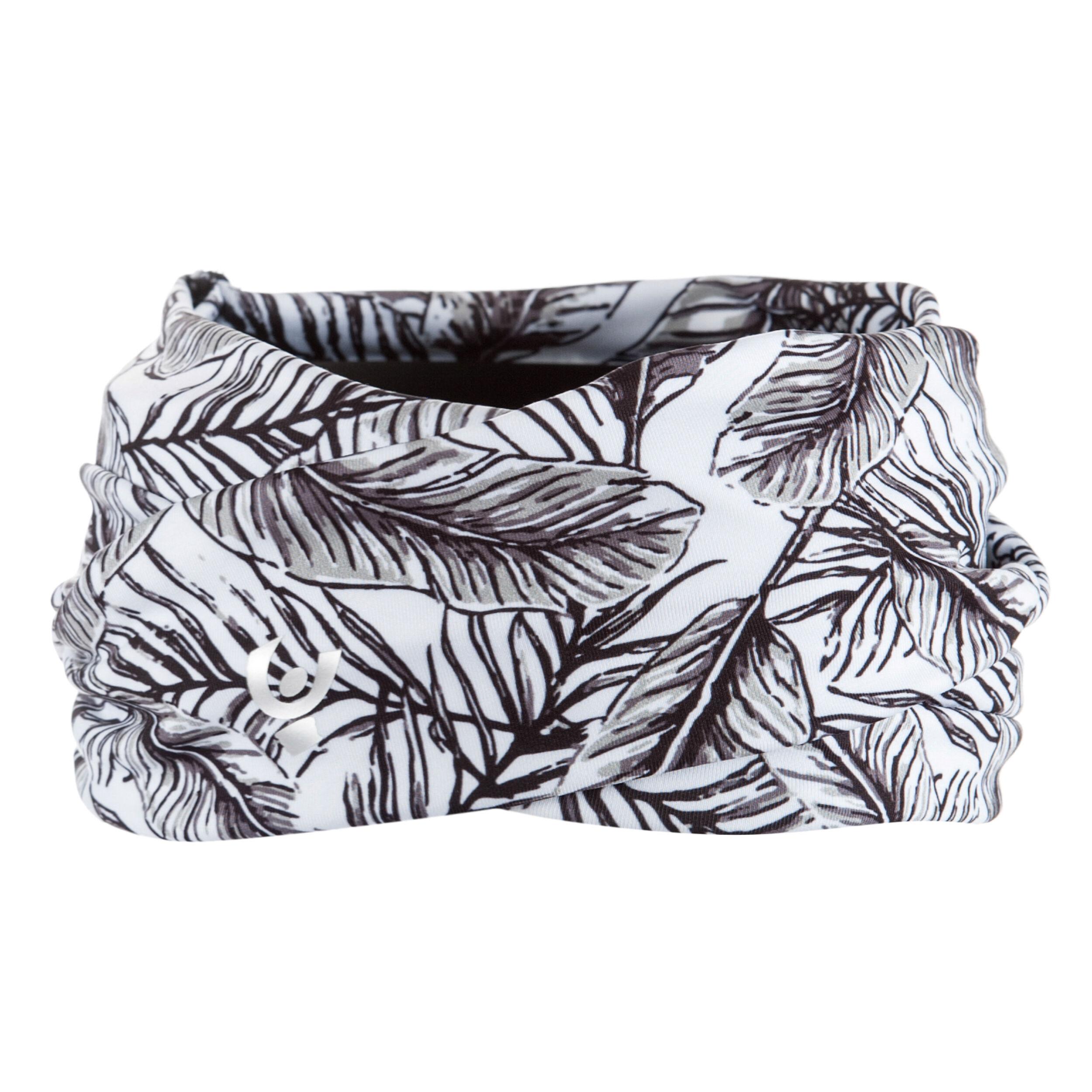Freddy Fascia per capelli incrociata in D.I.W.O.® stampa tropicale all-over Allover Foglie