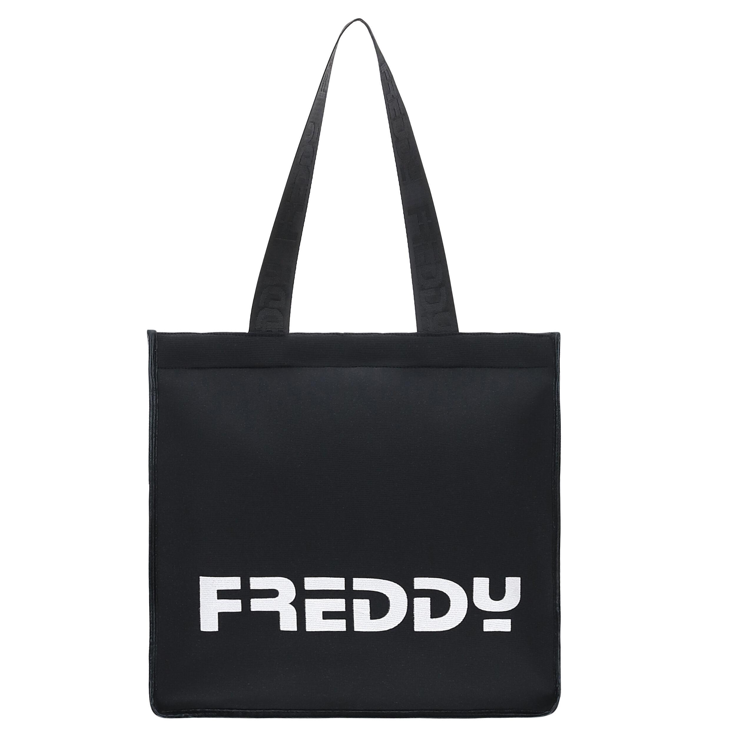 Freddy Shopper rettangolare nera con maxi stampa  Nero