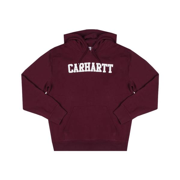 Carhartt Hooded college sweat - mulberry/white