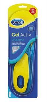 scholl linea benessere dei piedi gel activ everyday 1 paio di solette uomo