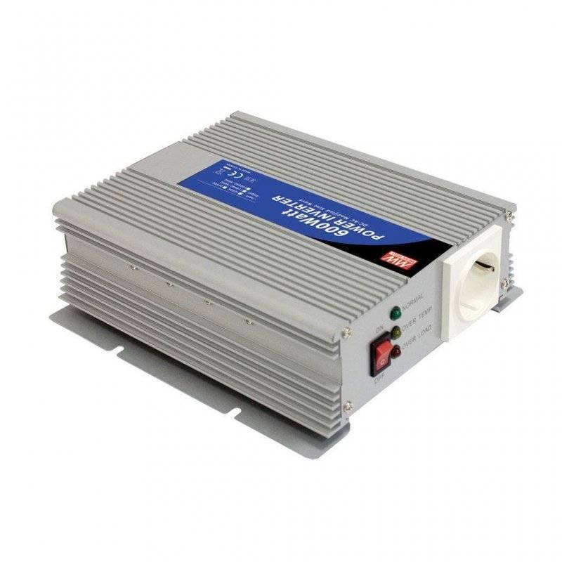 A302-600-F3 - Inverter MeanWell 600W - In 24V Out 220 VAC Onda Sinusoidale Modif
