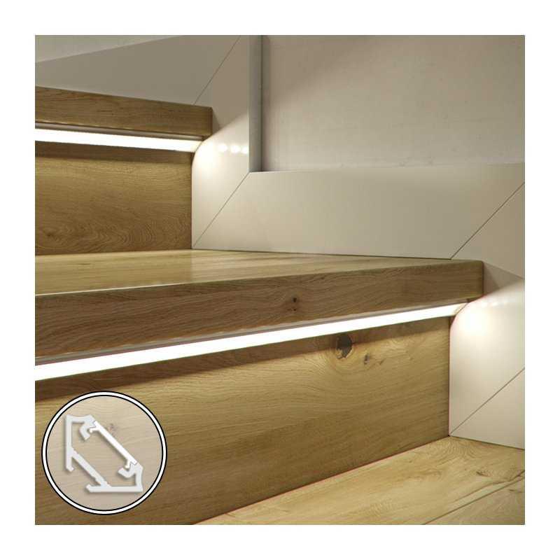 Barra LED su misura - 100cm max- Profilo Angolare C (11,3 x 16,6 mm) - Luminosit