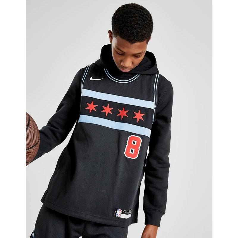 Nike NBA Chicago Bulls Lavine #8 City Jersey Junior, Nero