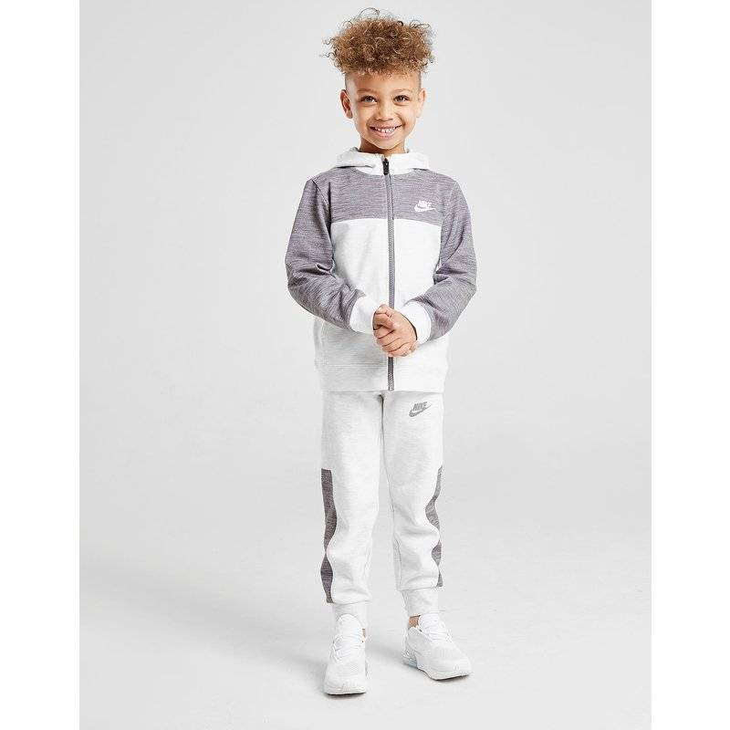 Nike Advance Full Zip Colour Block Tracksuit Children - Only at JD, Bianco