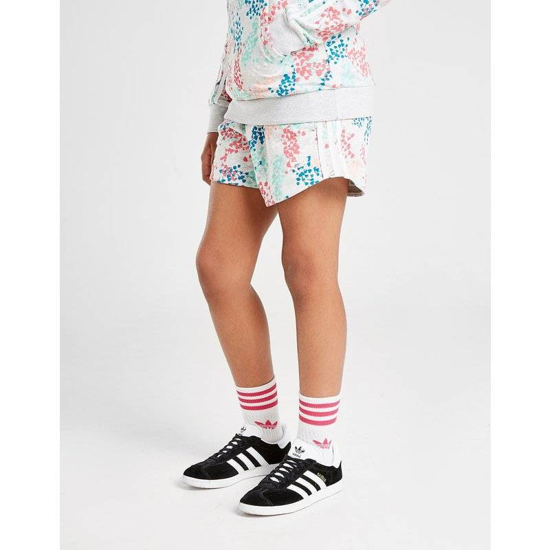 Adidas Originals Girls' All Over Print Shorts Junior, Grigio