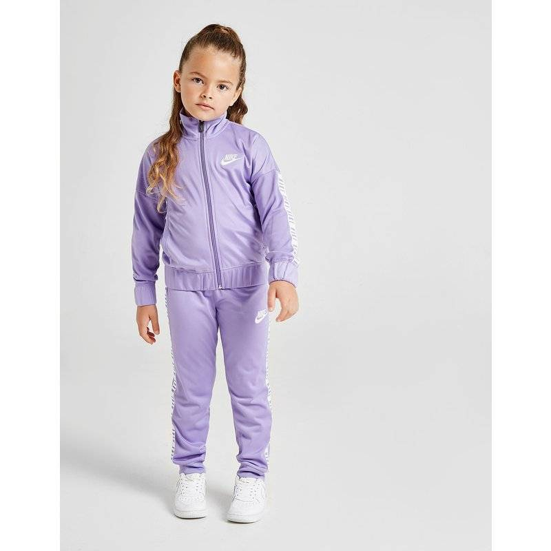 Nike Girls' Tricot Tape Tracksuit Children, Viola