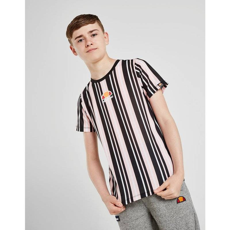 Ellesse Cherona Stripe T-Shirt Junior, Nero