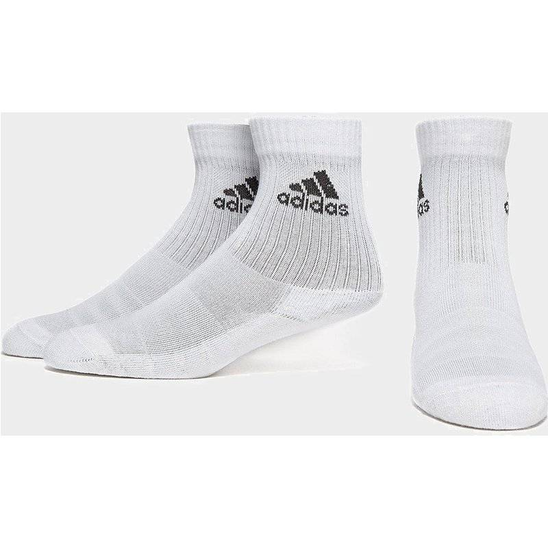 Adidas 3-Stripes Performance Crew 3 Pack Socks, Bianco