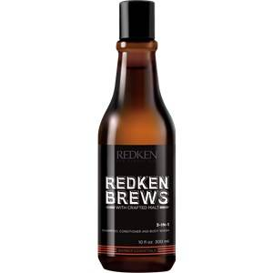 Redken Uomo Brews 3-in-1 Shampoo, Conditioner and Body Wash 300 ml