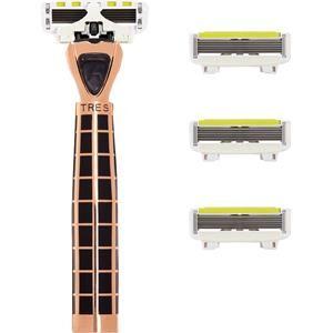 Shave Lab Rasoio femminile Tres Starter Set Black Edition Gold Rush P.L.6 Manico + 4 lame 1 Stk.