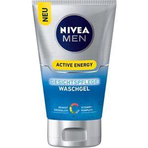 Nivea Cura dell'uomo Cura del viso Men Active Energy Gel detergente idratante viso 100 ml