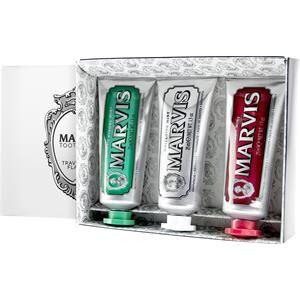 marvis cura igiene dentale set regalo menta forte classica 25 ml + menta sbiancante 25 ml + cannella e menta 25 ml 1 stk.