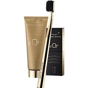 swiss smile cura igiene dentale golden toothpaste d'or set dentifricio oro 75 ml + spazzolino da denti oro 1 stk.