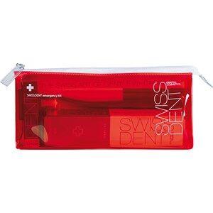 swissdent cura dentifricio emergency kit extreme dentifricio sbiancante estremo 50 ml + spray orale 9 ml + spazzolino da denti morbido-medio rosso e nero 1 stk.