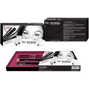 The Browgal Make-up Occhi Brow Travel Set Matita per riflessi Nr. 02 oro/nudo 6 g + matita per sopracciglia Nr. 03 cioccolato 1,2 g + matita per sopracciglia Nr. 04 marrone medio 1,2 g + gel trasparente per sopracciglia resistente all'acqua 5 ml 1 Stk.