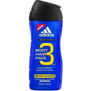 adidas Cura Functional Male Sport Energy For Men Shower Gel 2 x 250 ml