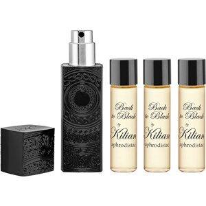 Kilian Profumi da uomo L'Oeuvre noire Back to Black by aphrodisiac Eau de Parfum Travel Spray Diffusore tascabile 7,5 ml + 3 ricariche da 7,5 ml 4 x 7,50 ml