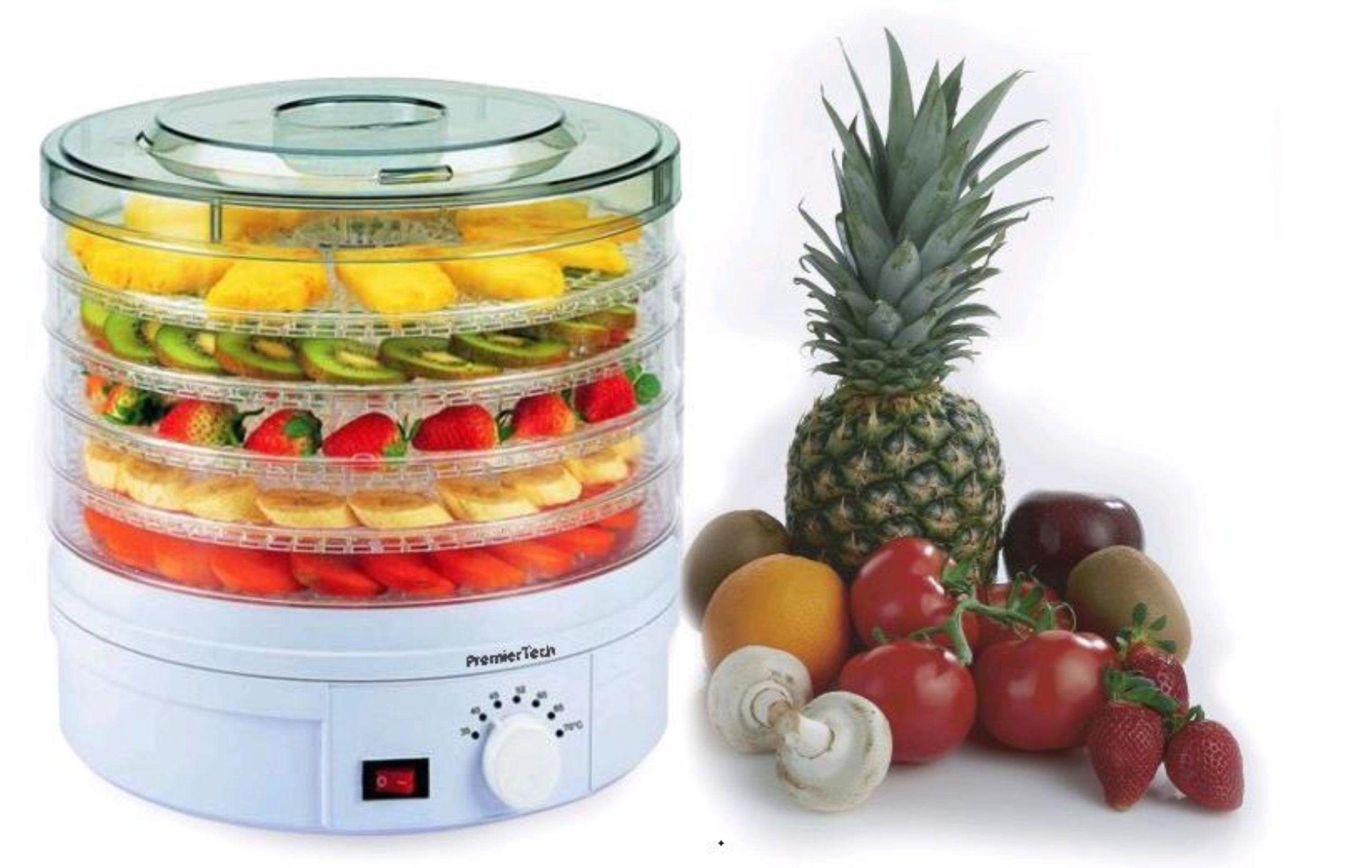 premiertech® premiertech pt-de5 essiccatore frutta verdura carne erbe 5 piani temp. 35-70 gradi 245watt ventola