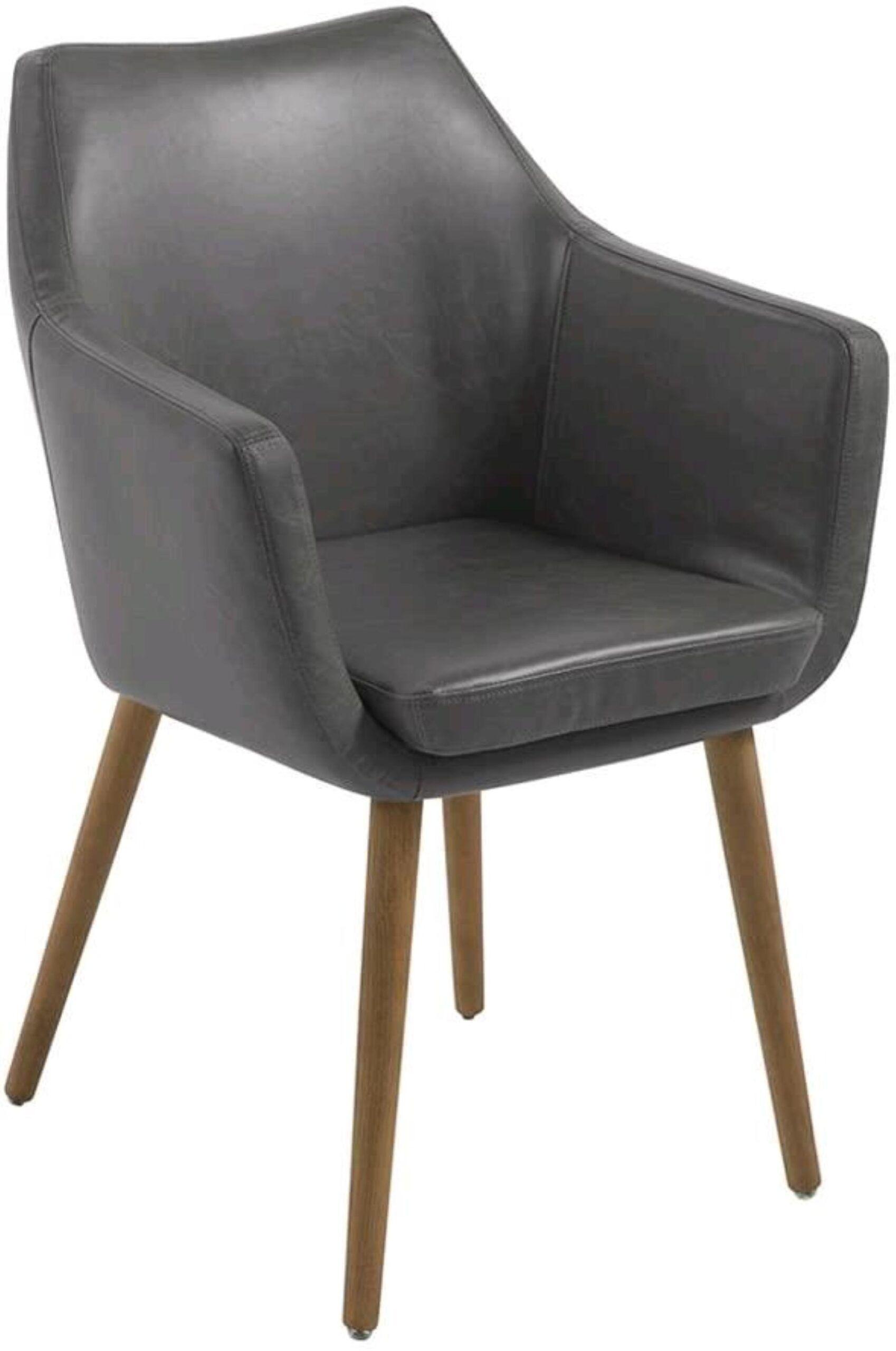 AC Design Furniture Sedia poltrona in similpelle Grigio 58 x 58 x 84 cm