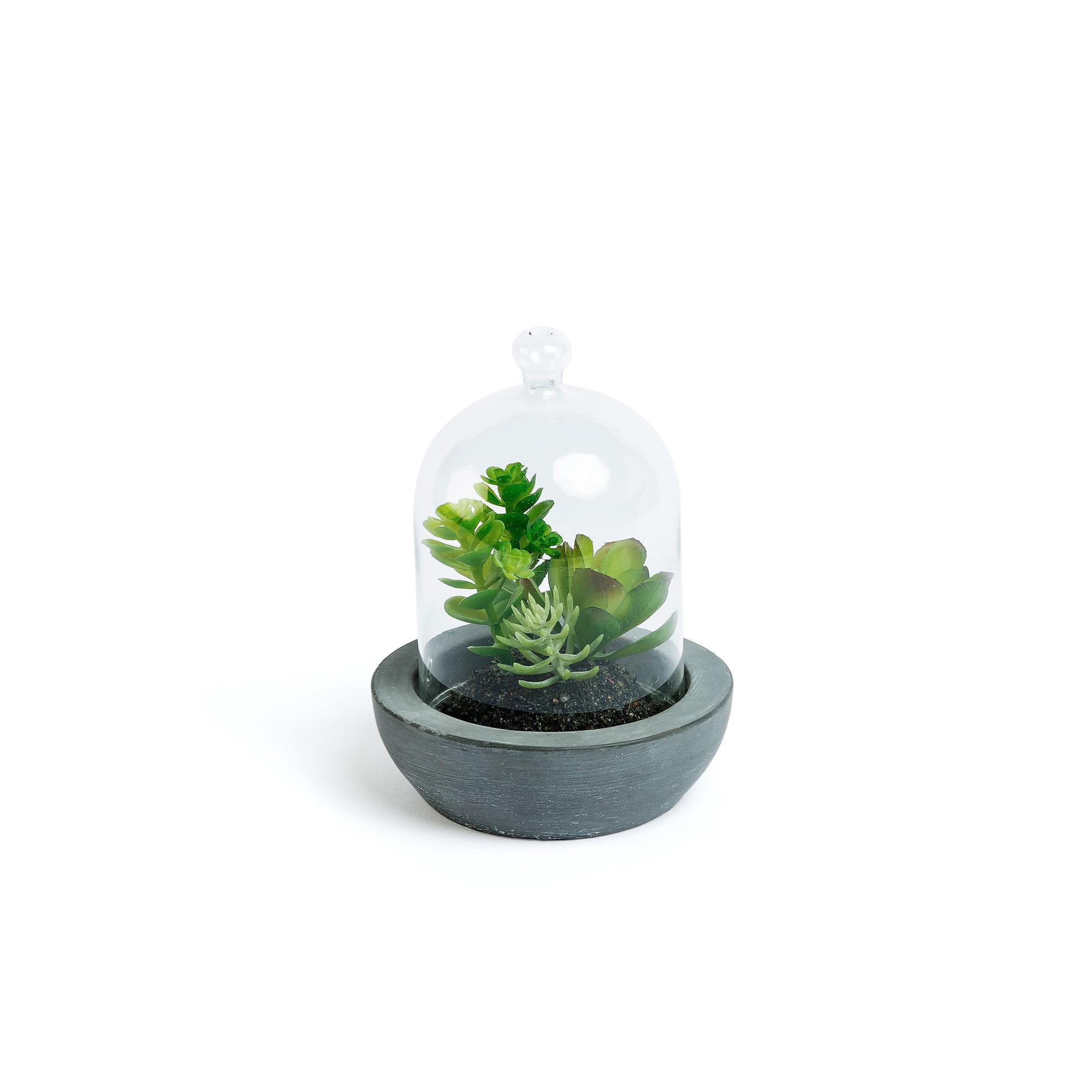 kave home mix piante suculenta artificiali in vaso di ceramica e vetro