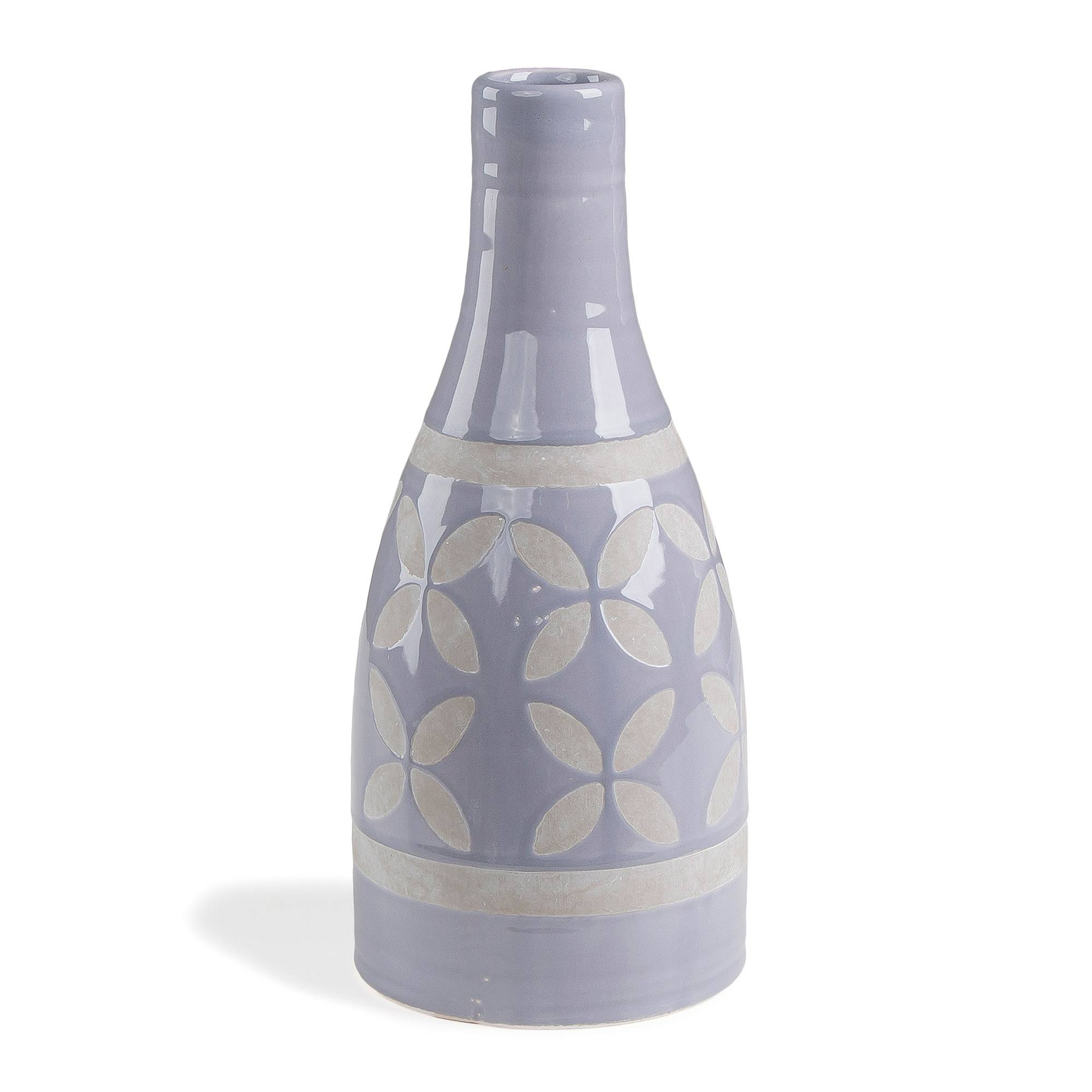 Kave Home Vaso Ares fiore blu 30 cm