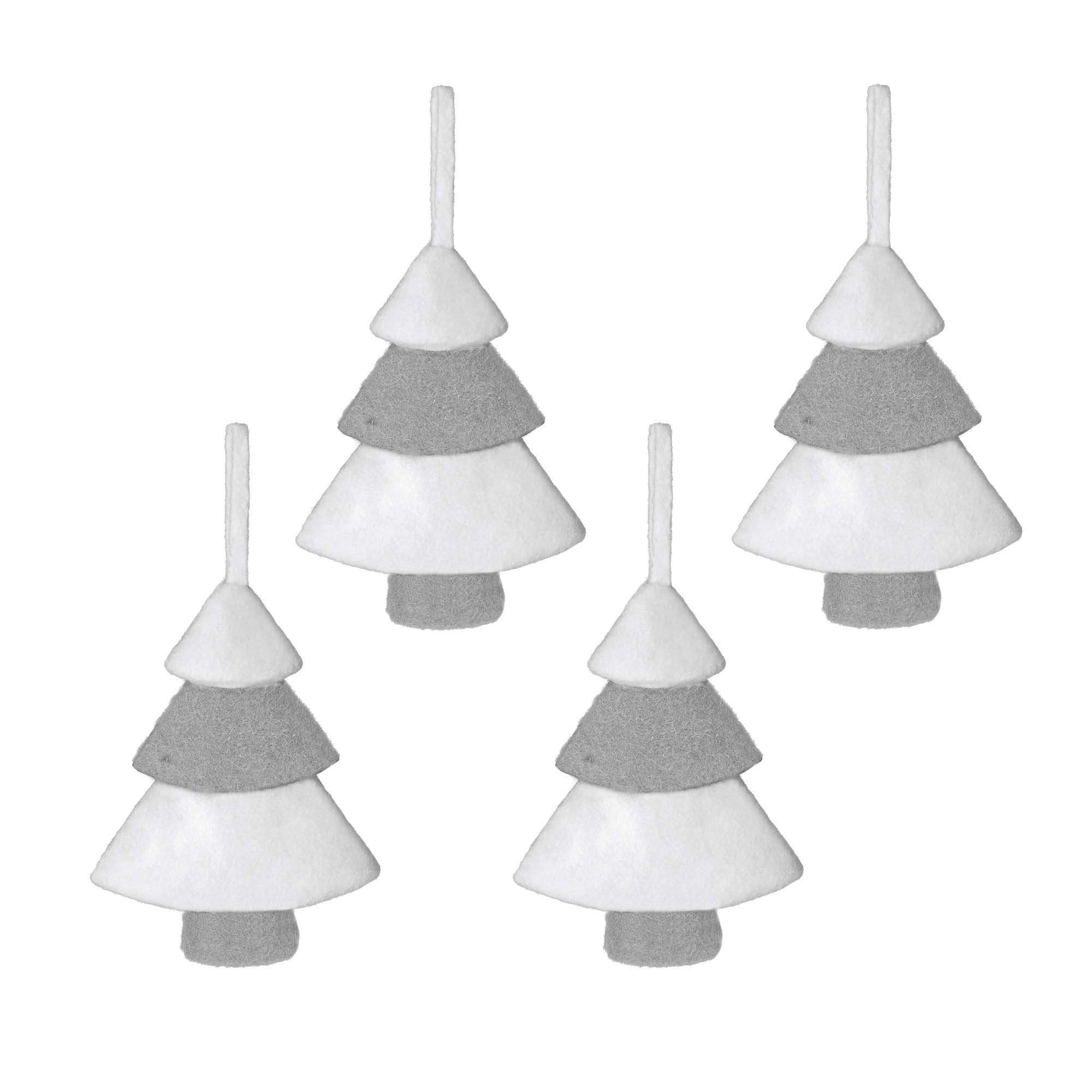 Kave Home Set Clemons di 4 ciondoli decorativi per alberi di Natale