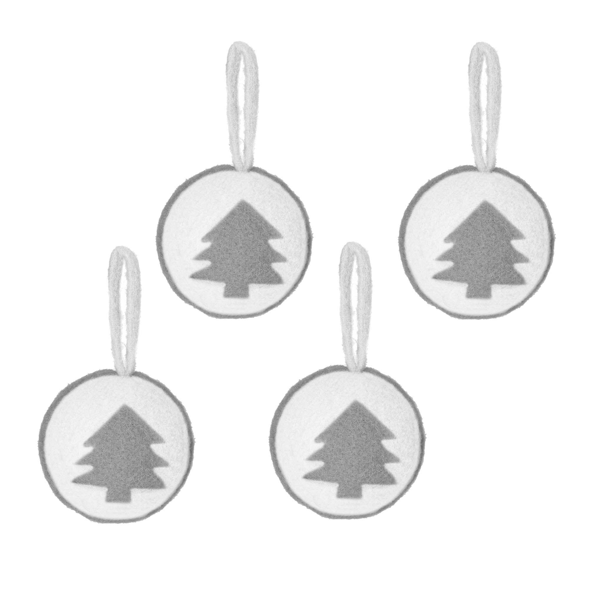 Kave Home Set Cath di 4 palline decorative pendenti albero di Natale
