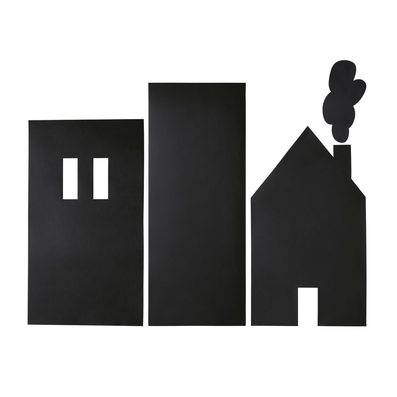 Kave Home Adesivo da parete Nisi con disegno edificio 115 x 145 cm