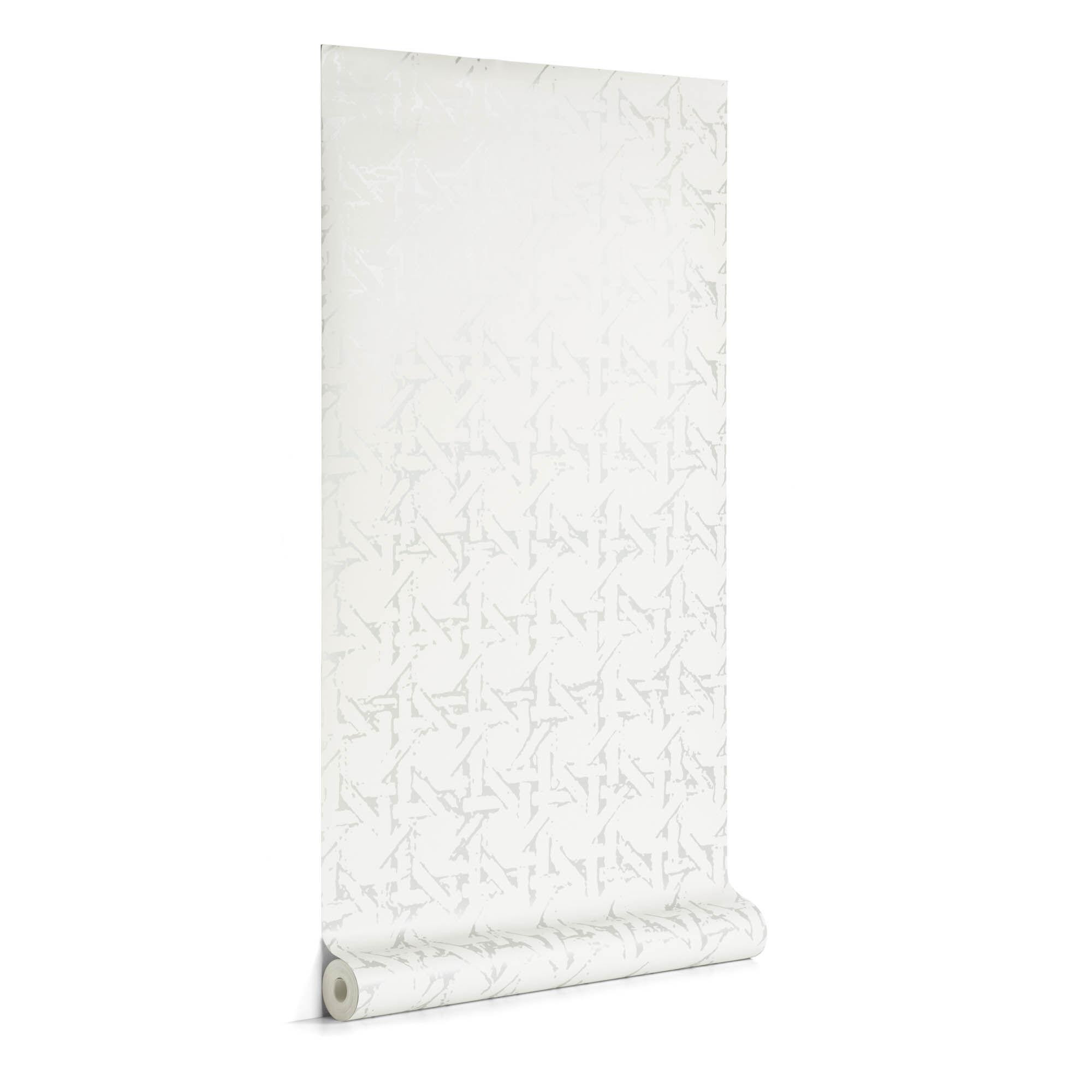 Kave Home Carta da parati Viveka grigio e argento 10 x 0,53 m