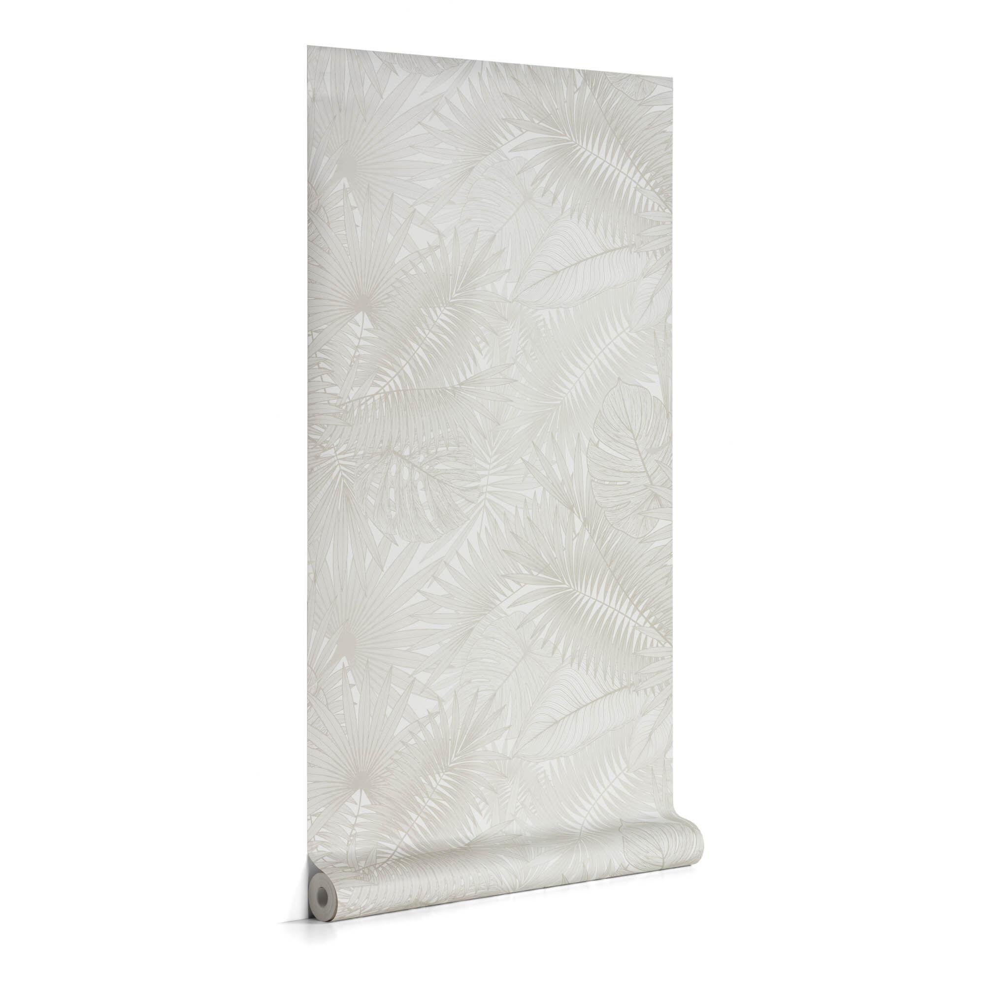 Kave Home Carta da parati Tropic grigio 10 x 0,53 m