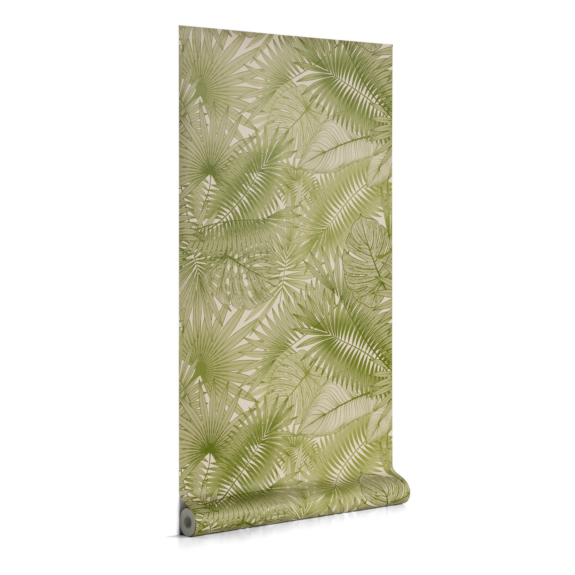 Kave Home Carta da parati Tropic verde 10 x 0,53 m