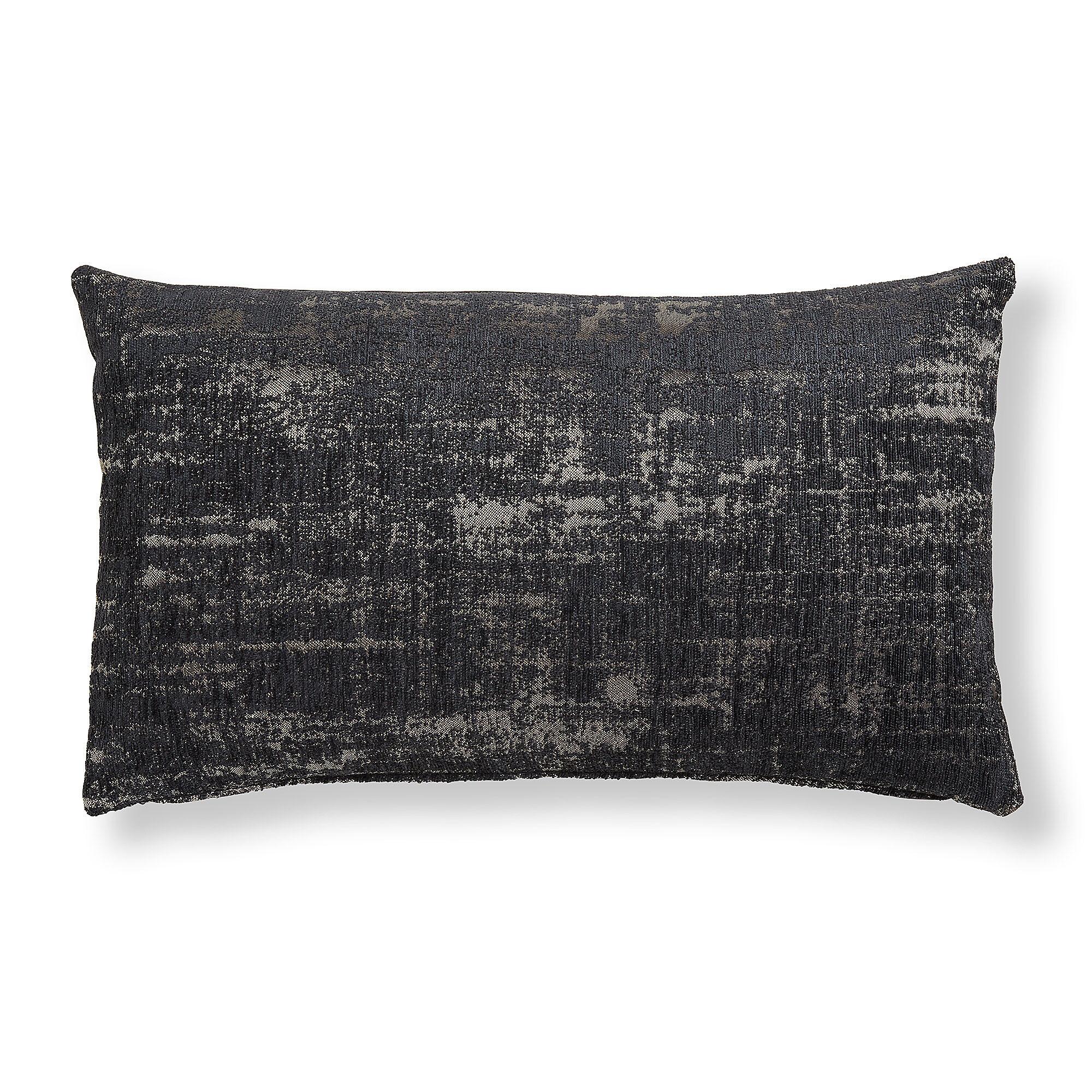 Kave Home Fodera cuscino Nazca 30 x 50 cm nero