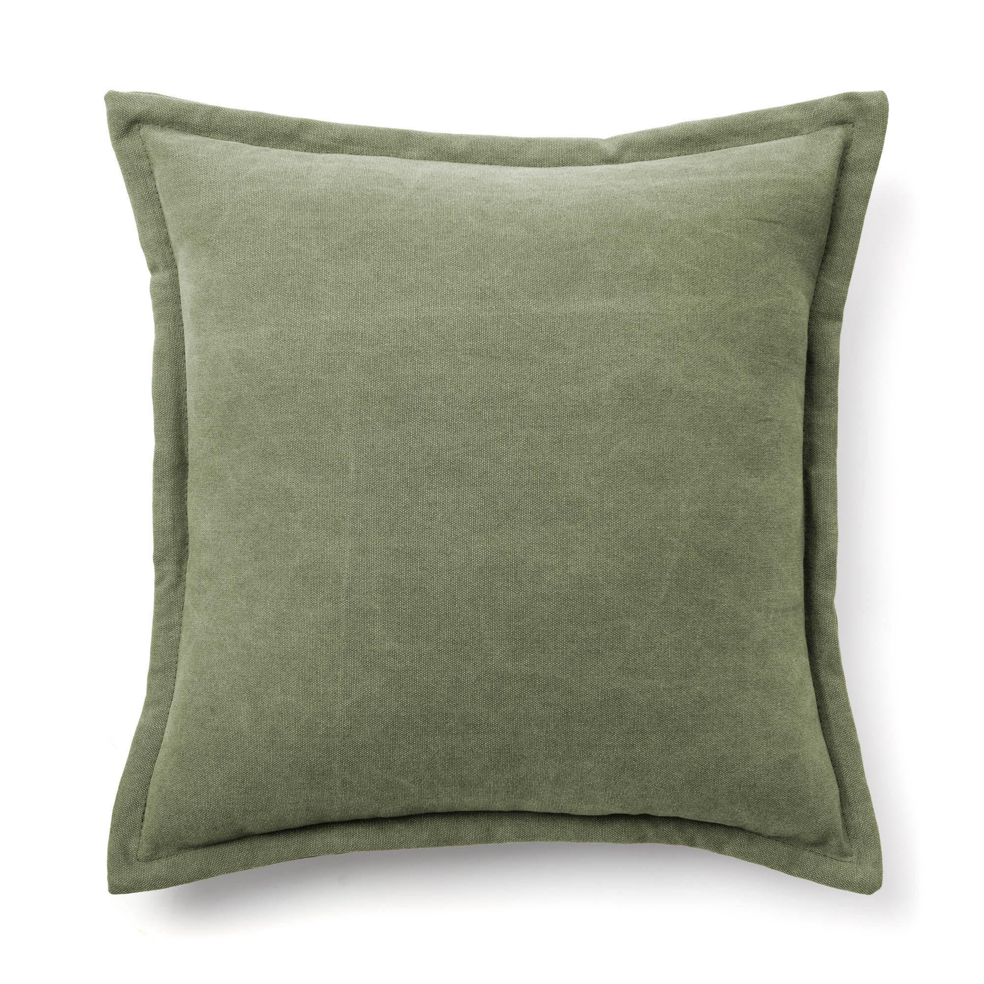 Kave Home Fodera per cuscino Lisette 45 x 45 cm verde