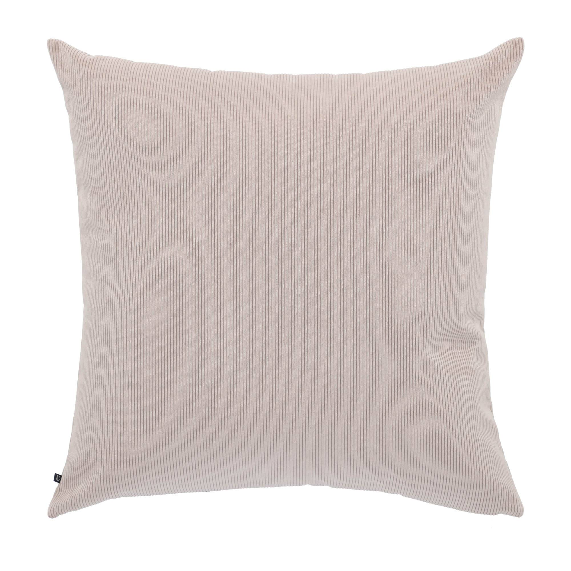Kave Home Fodera cuscino Namie 60 x 60 cm velluto a coste rosa