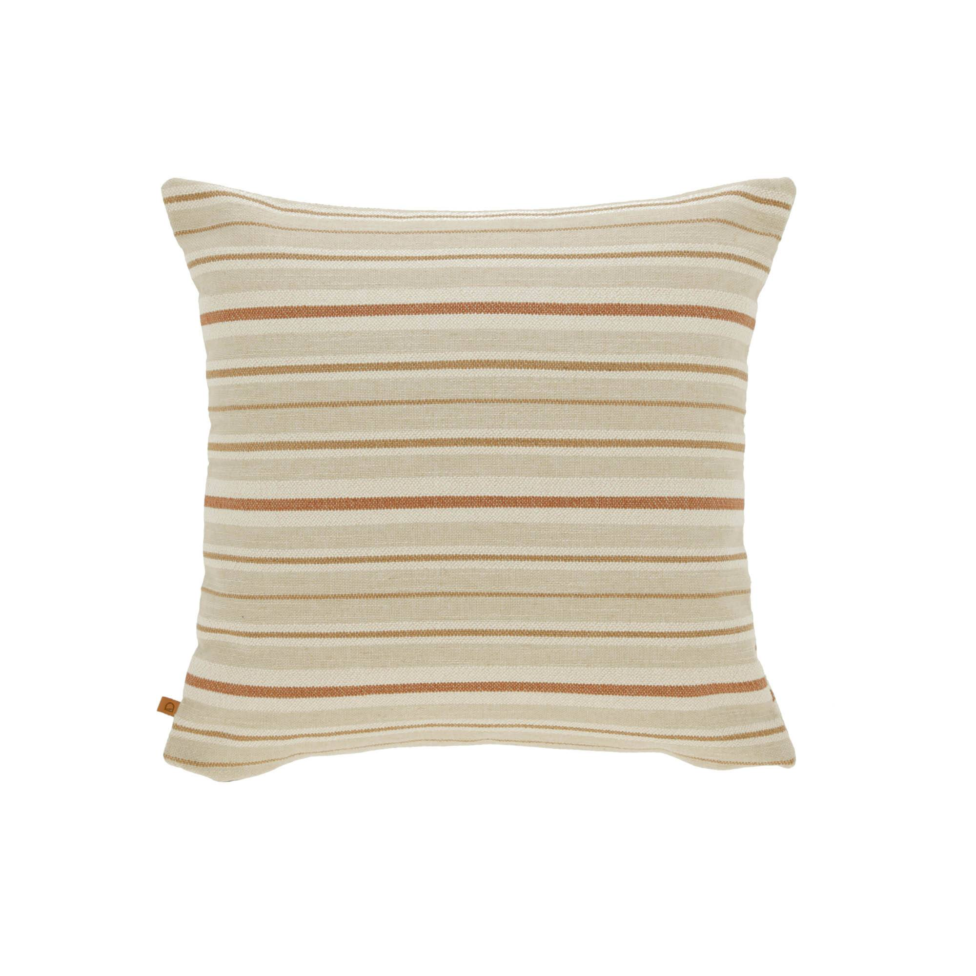 Kave Home Fodera cuscino Sydelle 45 x 45 cm a righe beige